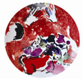 Bernardaud Marc Chagall The Hadassah Windows (1962) Coupe Salad Plate JUDA TRIBE 8.5 in