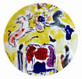 Bernardaud Marc Chagall The Hadassah Windows (1962) Coupe Salad Plate LEVY TRIBE 8.5 in