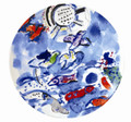 Bernardaud Marc Chagall The Hadassah Windows (1962) Coupe Salad Plate RUBEN TRIBE 8.5 in