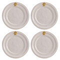 Juliska Acanthus Gold Cocktail Plates Set of Four 7.5 in KJ53SET/14