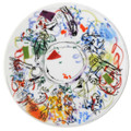"Bernardaud Marc Chagall ""Ceiling of the Garnier  Opera"" Coupe Salad Plate 8.3 in No.5 (1963)"