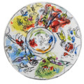 "Bernardaud Marc Chagall ""Ceiling of the Garnier Opera"" Coupe Salad Plate 8.3 in  No.1 (1963)"