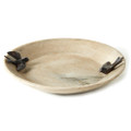Jan Barboglio Dos Golondrinas Stone Bowl 16x16x2.5 in 3594