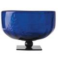 Jan Barboglio Gourd Bowl with Pepita Etching Azul 6.75x6.75x4.5 in 3158AZ
