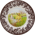 Spode Woodland Yellow Labrador Salad Plate 8 in. 1403859