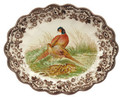 Spode Woodland Pheasant Oval Fluted Dish 14.5 in. 1868887