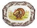 Spode Woodland Turkey Octagonal Platter 19 in.