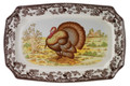 Spode Woodland Turkey Rectangular Platter 17.5 in.