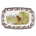 Spode Woodland Moose Rectangular Platter 17.5 in. 1535619