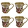Casafina Deer Friends Mug 12 oz Set of Four DF609-GRN