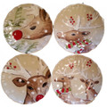 Casafina Deer Friends Dinner Plate Set of Four 10.5 in DF601-LIN