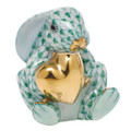 Herend Bunny with Heart Fishnet Green 1.5x5 in SVHV--05575-0-00