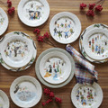 Juliska Twelve Days of Christmas Dessert Salad Plate Set of 12 9 in CD02SET-88