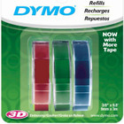 dymo 1741671 embossing tapes red green blue