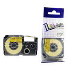 Compatible Label-It tape - 12mm black on yellow