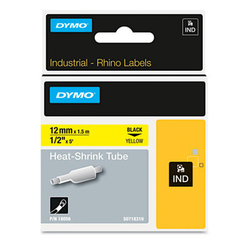 Dymo ind 18055 1/2 Yellow Heat Shrink Tube