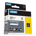 Dymo 18489 IND 3/4 White Flexible Nylon Labels