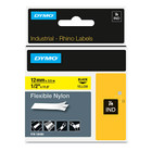 Dymo 18490 IND 1/2 Yellow Flexible Nylon Labels