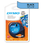 Dymo 91335 Black on Ultra Blue Polyester LetraTAG Tape