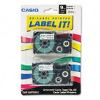 Casio XR9X2S Black on Clear Tape Cassettes