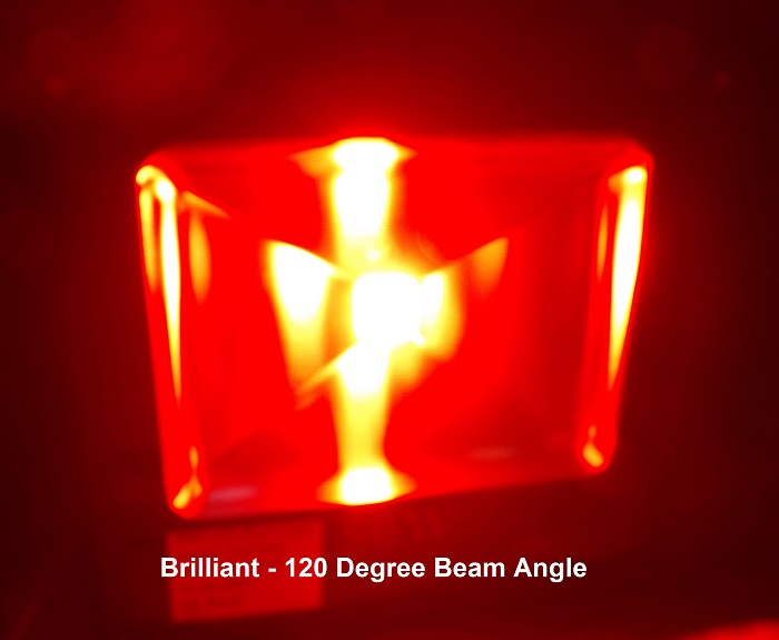 DeepRed Bud Booster, Bright, 120 degree beam angle.