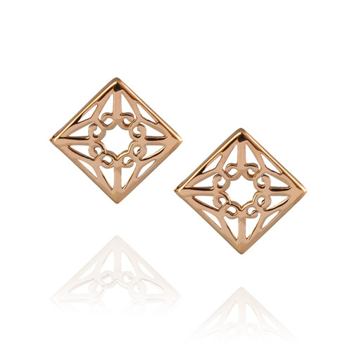 Lao Studs - Rose Gold