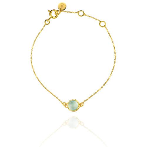Dosha Bracelet - Gold - Aqua Chalcedony