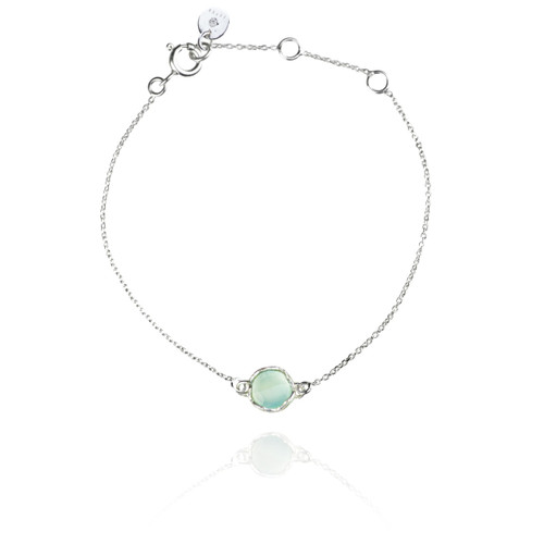 Dosha Bracelet - Silver - Aqua Chalcedony