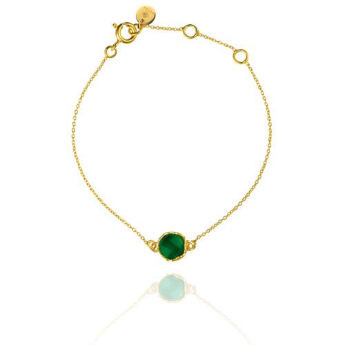 Dosha Bracelet - Gold - Green Onyx