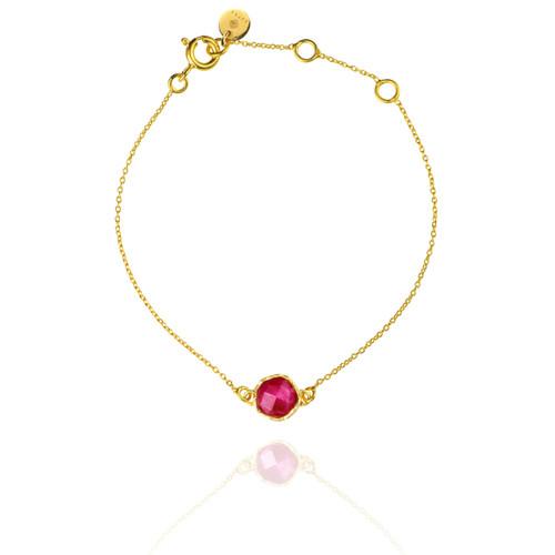 Dosha Bracelet - Gold - Pink Agate