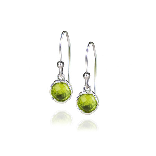 Dosha Earrings - Silver - Peridot