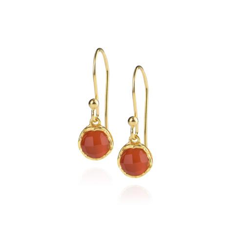 Dosha Earrings - Gold - Carnelian