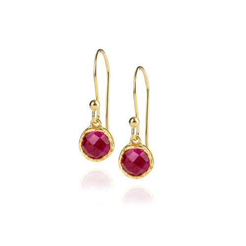 Dosha Earrings - Gold - Pink Agate