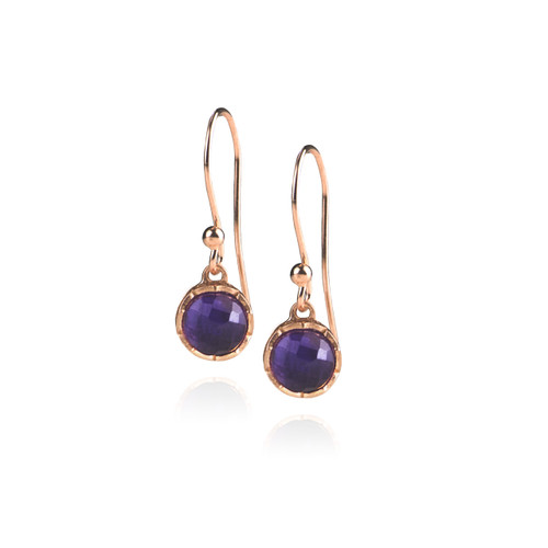 Dosha Earrings - Rose Gold - Amethyst