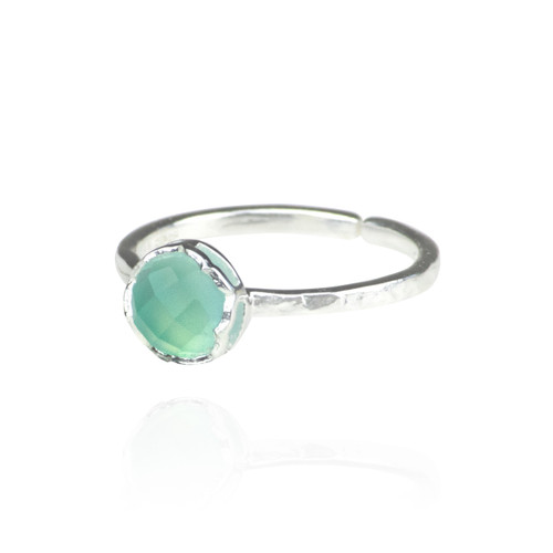 Dosha Ring - Silver - Aqua Chalcedony