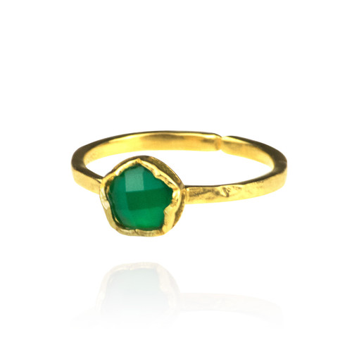 Dosha Ring - Gold - Green Onyx