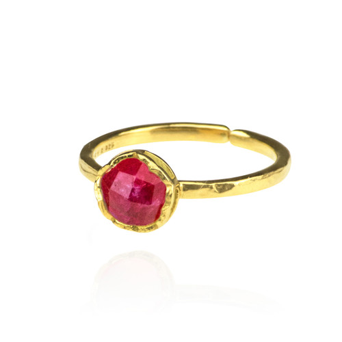 Dosha Ring - Gold - Pink Agate