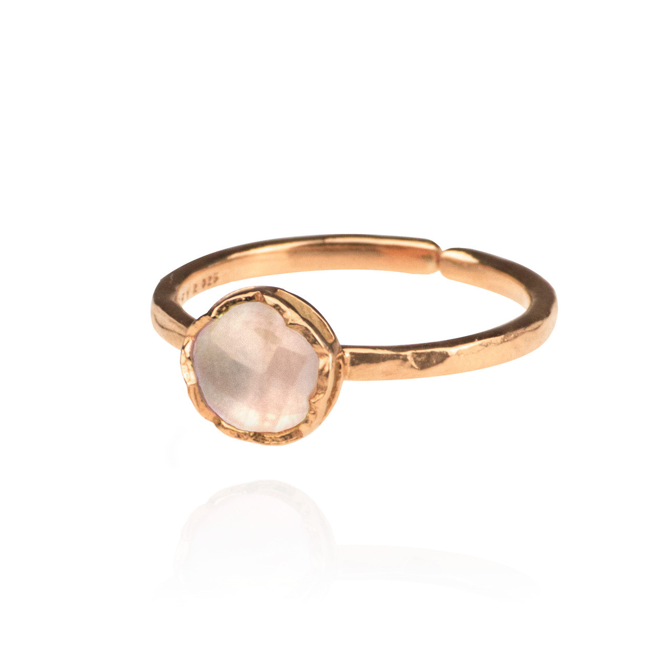 13bdf1e49 Dosha Ring - Rose Gold - Rose Quartz - Zefyr