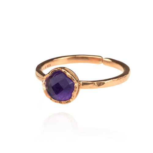 Dosha Ring - Rose Gold - Amethyst