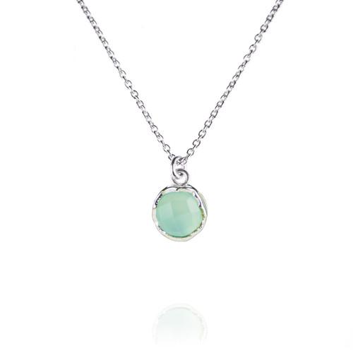 Dosha Necklace - Silver - Aqua Chalcedony