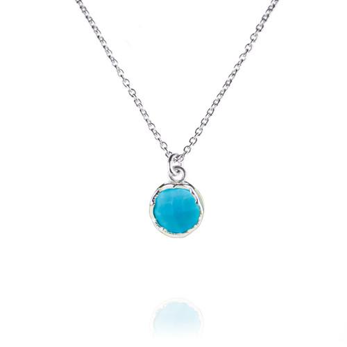Dosha Necklace - Silver - Turquoise