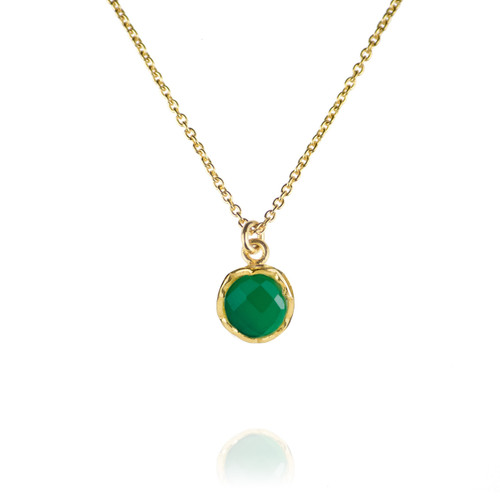 Dosha Necklace - Gold - Green Onyx