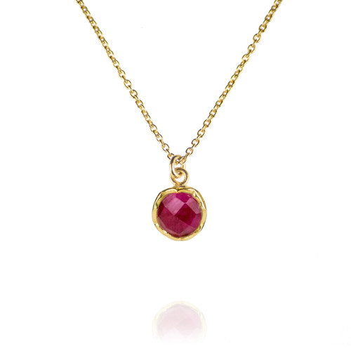 Dosha Necklace - Gold - Pink Agate