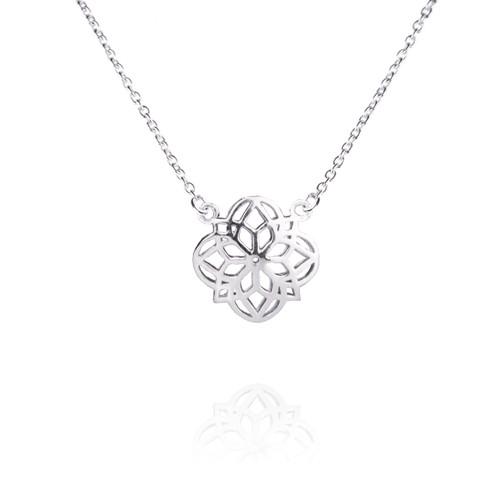 Mandala Necklace - Silver