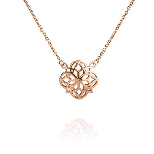 Mandala Necklace - Rose Gold