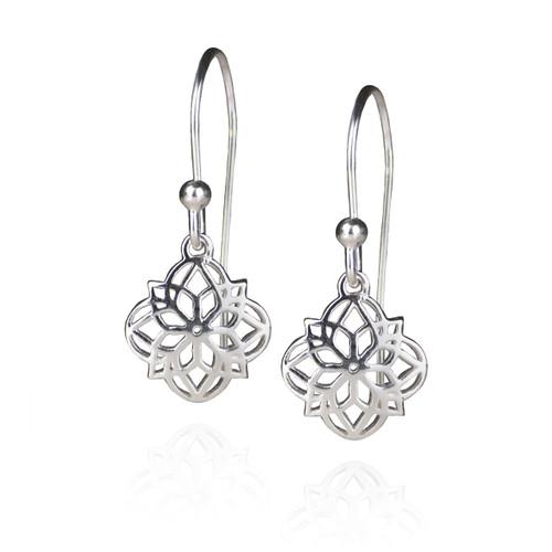 Mandala Earrings - Silver