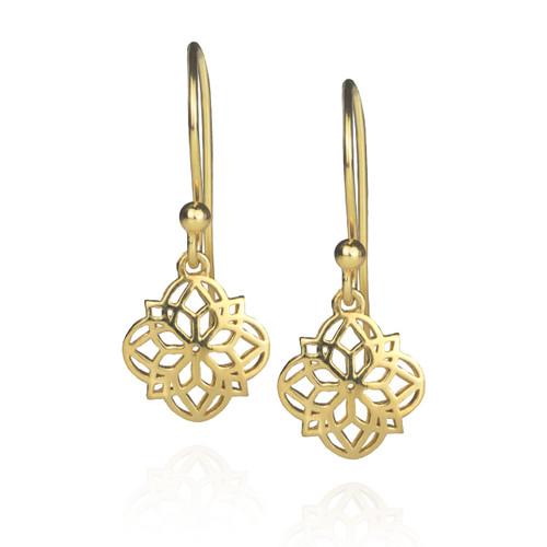 Mandala Earrings - Gold
