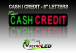 "CASH / CREDIT LED Digital Gas Price sign w/ RF Remote Control - 64.4"" x 11"""