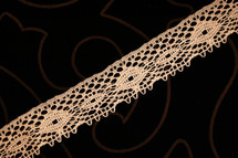 "1 1/8"" Peach Wholesale Lace Trim #lace-135"