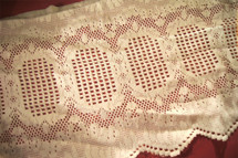 "14"" Natural White Vintage Lace Trim #1030"